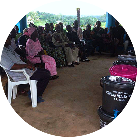 group of people in a community outreach project